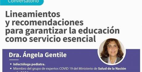"""Conversatorio """"Lineamientos y recomendaciones para garantizar la educación como servicio esencial"""""""